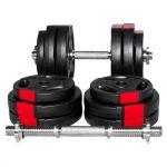 Dumbellset 30 kg Gripper Kunststof-100633848