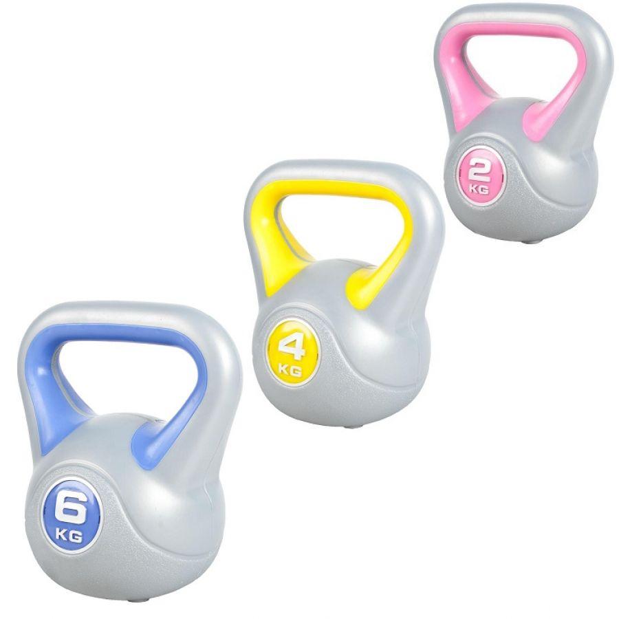 Voordeelset Kettlebells 2, 4 en 6 kg Kunststof Trendy