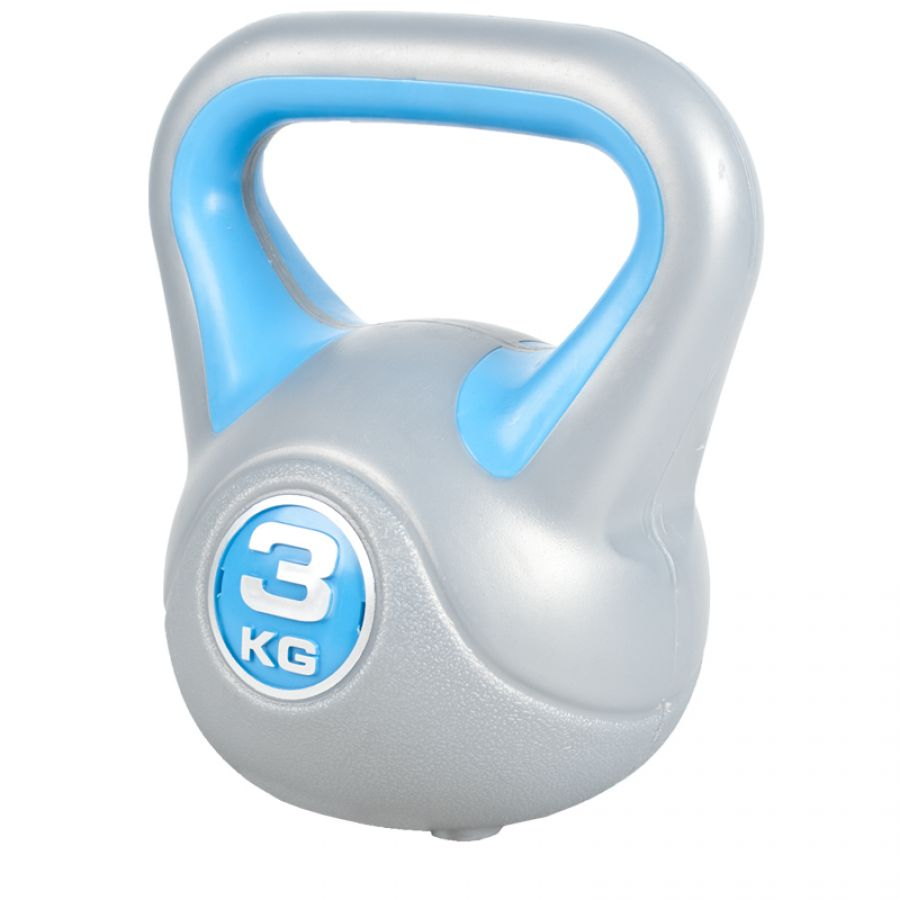 voordeelset kettlebells 3, 6 en 8 kg kunststof trendyKunststof Kettlebells #4