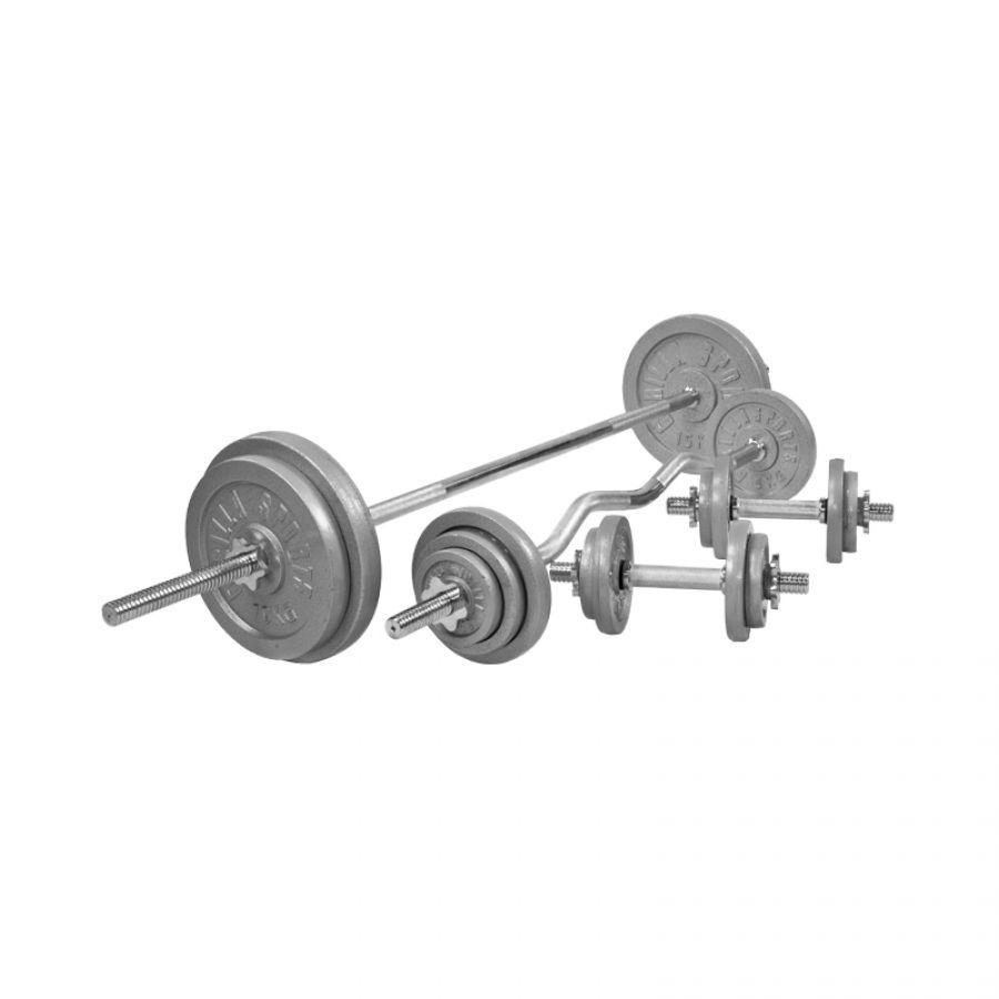 Halterset 108 kg Gietijzer (schroefsluiting)