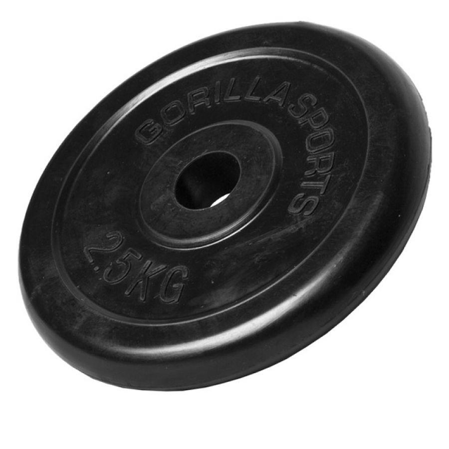 Halterschijf 2,5 kg Rubber
