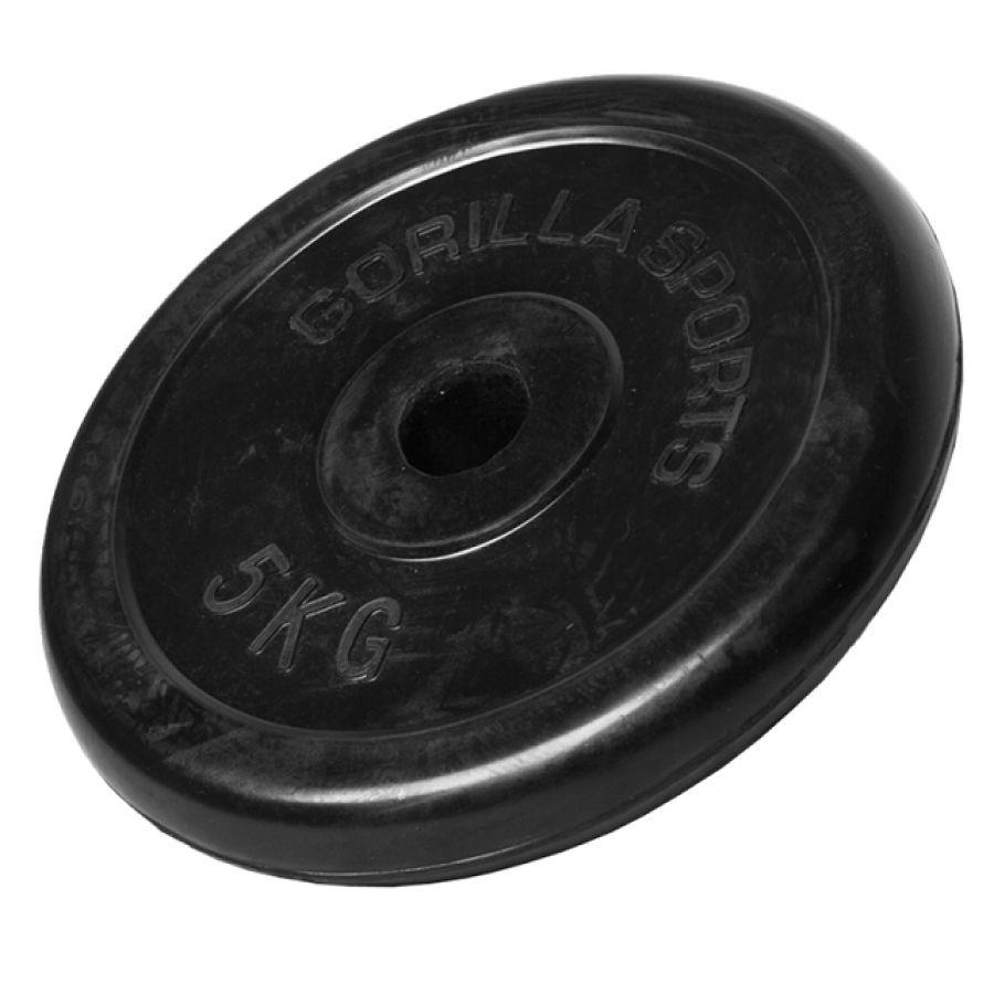 Halterschijf 5 kg Rubber