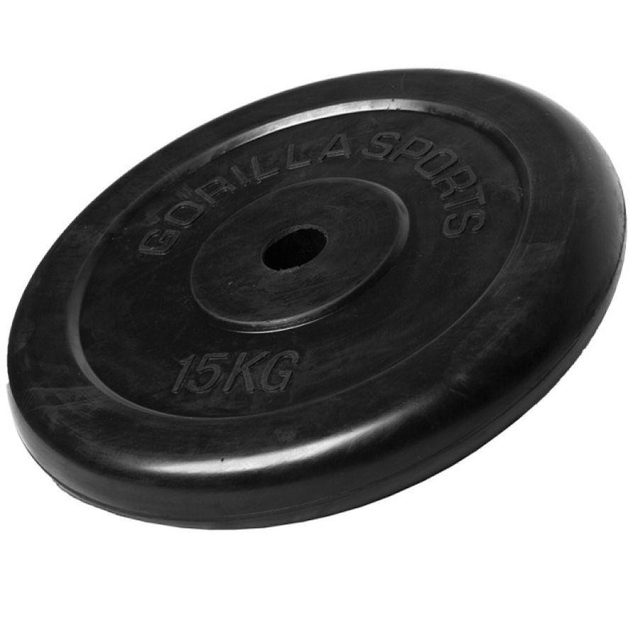 Halterschijf 15 kg Rubber