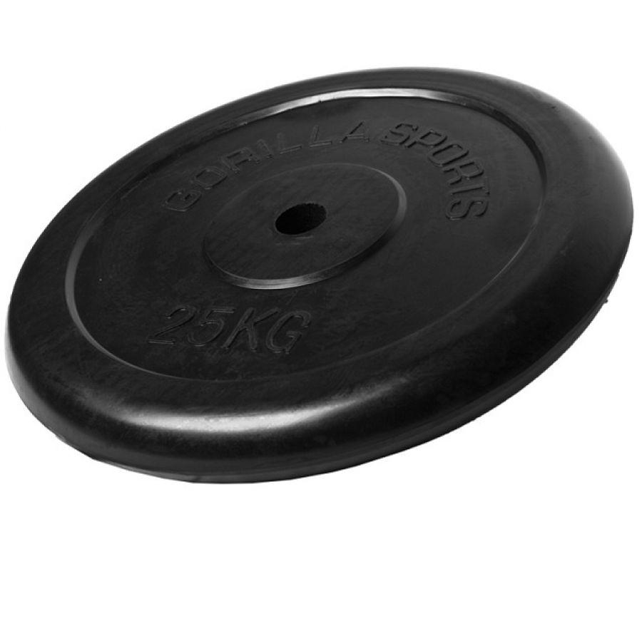 Halterschijf 25 kg Rubber
