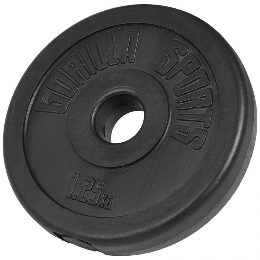Halterschijf 1,25 kg Kunststof