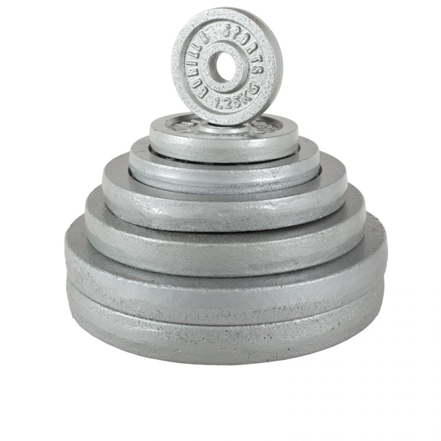 Voordeelbundel 30 kg (2 x 10 kg en 2 x 5 kg) Halterschijven Gietijzer