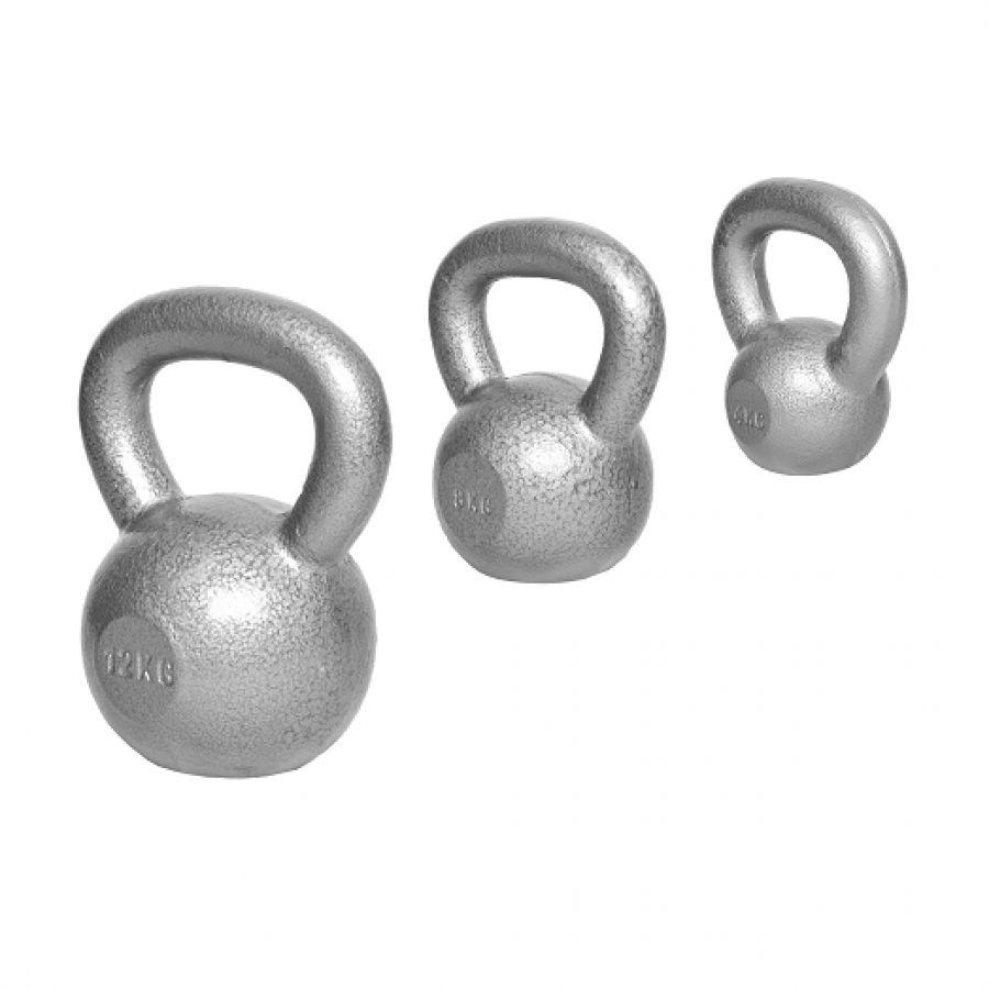 Voordeelset Kettlebells 4, 8 en 12 kg Gietijzer