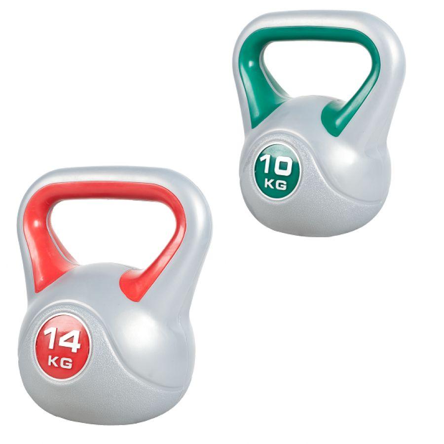 kettlebell sets kopen?voordeelset kettlebells 10 en 14 kg kunststof trendy