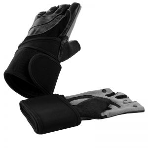 Leren Fitness Handschoenen Met Polsbandage