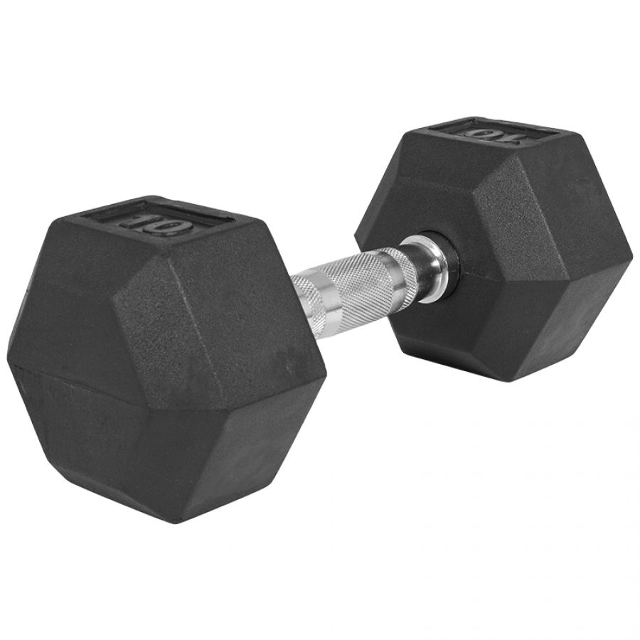 Dumbell 10 kg (1 x 10 kg) Hexagon Rubber