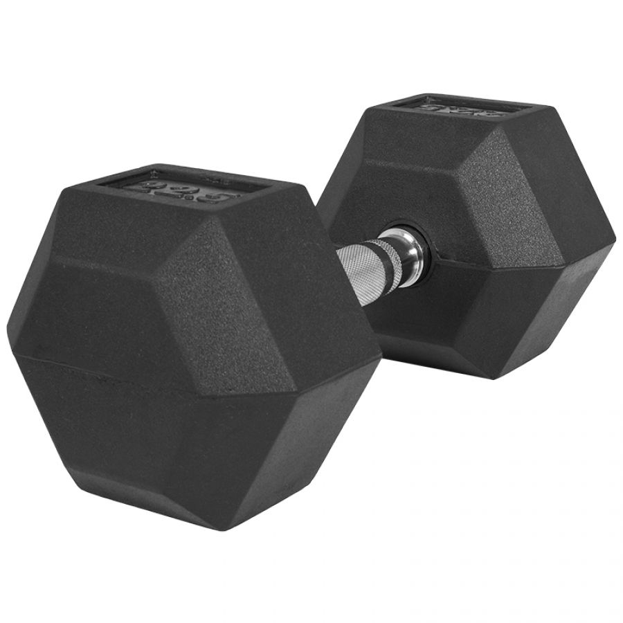 Dumbell 22,5 kg (1 x 22,5 kg) Hexagon Rubber
