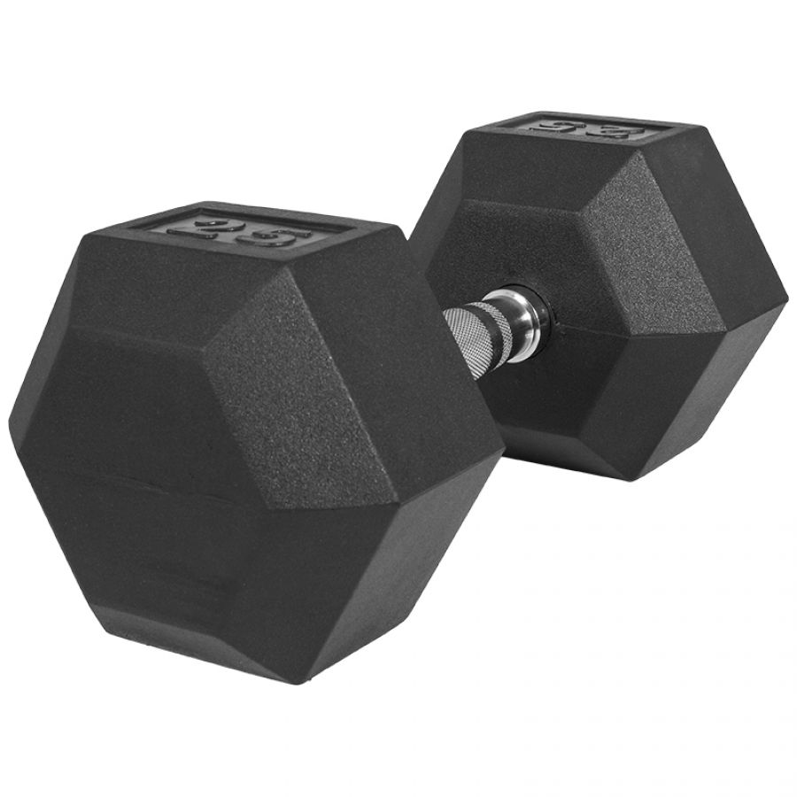 Dumbell 25 kg (1 x 25 kg) Hexagon Rubber