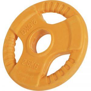 Olympische halterschijf 2,5 kg Gripper Gietijzer (50/51 mm, rubber coating)