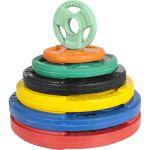 Olympische halterschijf 5 kg Gripper Gietijzer (50/51 mm, rubber coating)-100644887