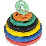 Olympische halterschijf 5 kg Gripper Gietijzer (50/51 mm, rubber coating)-100644888