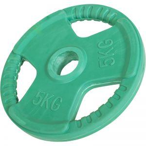 Olympische halterschijf 5 kg Gripper Gietijzer (50/51 mm, rubber coating)