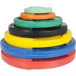 Olympische halterschijf 10 kg Gripper Gietijzer (50/51 mm, rubber coating)-100644894
