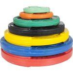 Olympische halterschijf 15 kg Gripper Gietijzer (50/51 mm, rubber coating)-100644950