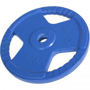 Olympische halterschijf 20 kg Gripper Gietijzer (50/51 mm, rubber coating)