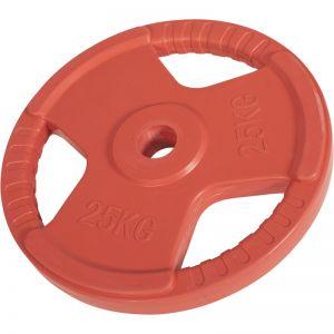 Olympische halterschijf 25 kg Gripper Gietijzer (50/51 mm, rubber coating)