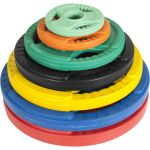 Olympische halterschijf 25 kg Gripper Gietijzer (50/51 mm, rubber coating)-100644961