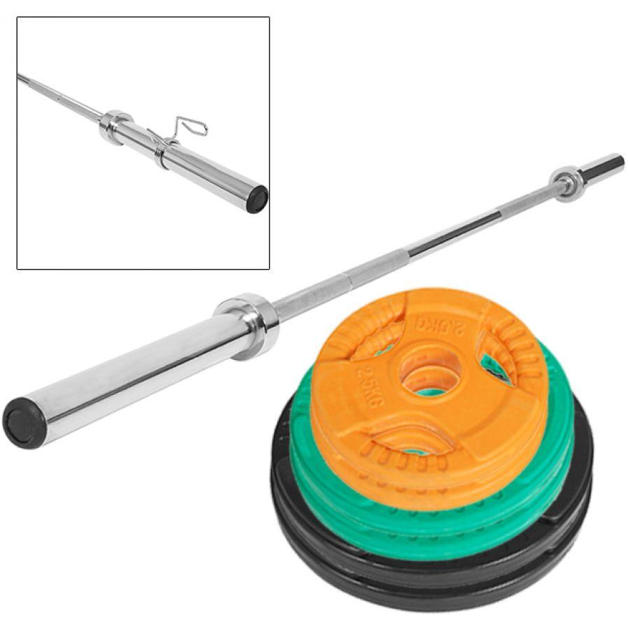51 kg Olympische Gripper Gietijzer Halterset (50/51 mm)