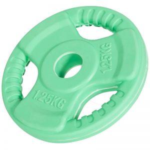 Halterschijf 1,25 kg Gripper Gietijzer (30 mm, rubber coating)