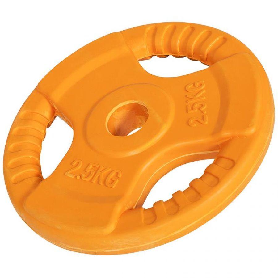 Halterschijf 2,5 kg Gripper Gietijzer (30 mm, rubber coating)