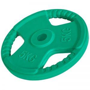 Halterschijf 5 kg Gripper Gietijzer (30 mm, rubber coating)