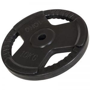 Halterschijf 10 kg Gripper Gietijzer (30 mm, rubber coating)