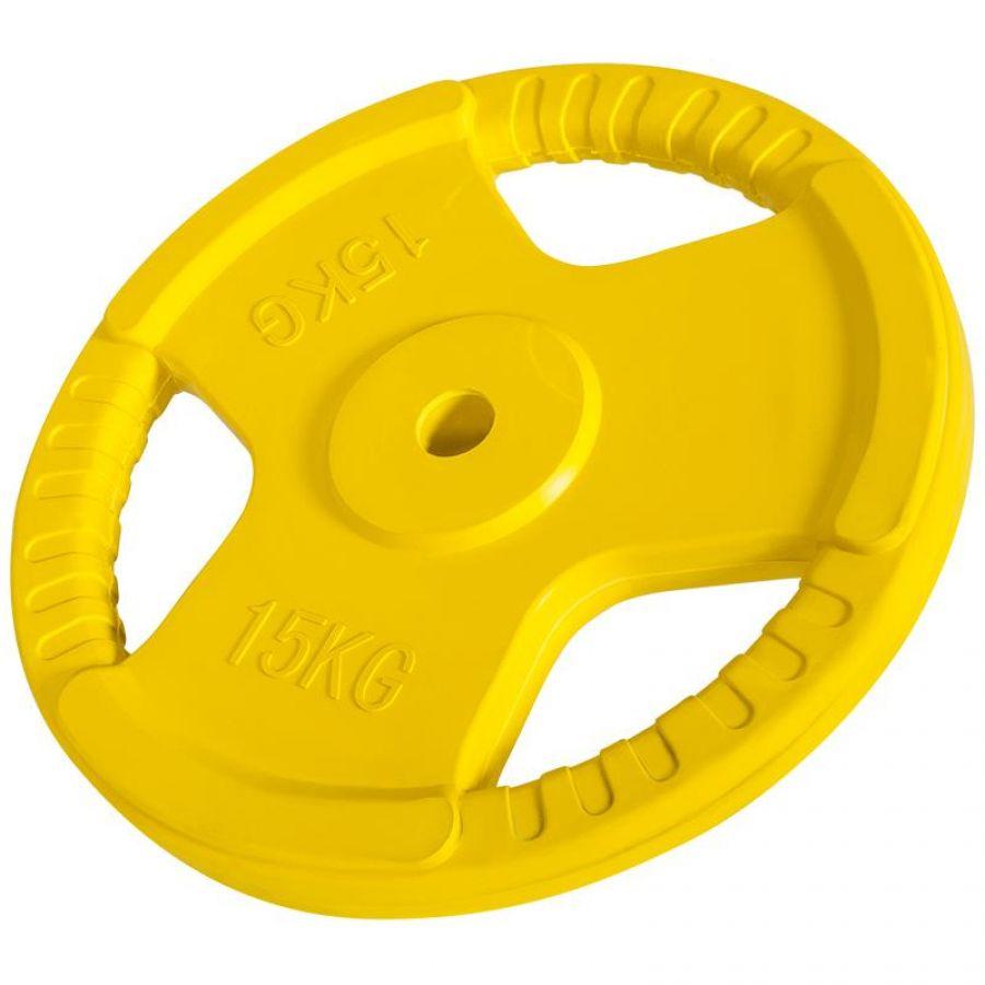 Halterschijf 15 kg Gripper Gietijzer (30 mm, rubber coating)