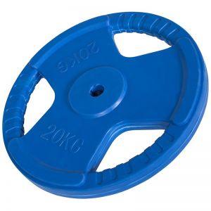 Halterschijf 20 kg Gripper Gietijzer (30 mm, rubber coating)
