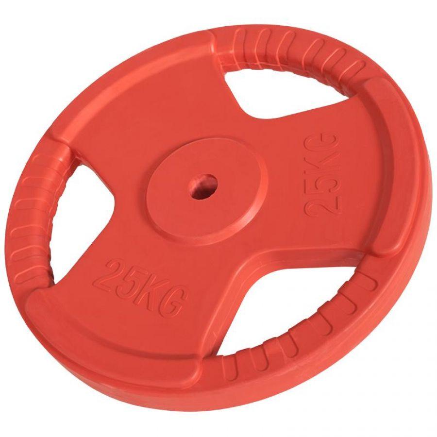 Halterschijf 25 kg Gripper Gietijzer (30 mm, rubber coating)