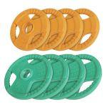 Voordeelbundel 30 kg (4 x 5 kg en 4 x 2,5 kg) Olympische Halterschijven Gripper Gietijzer (50/51 mm, rubber coating)-100655851