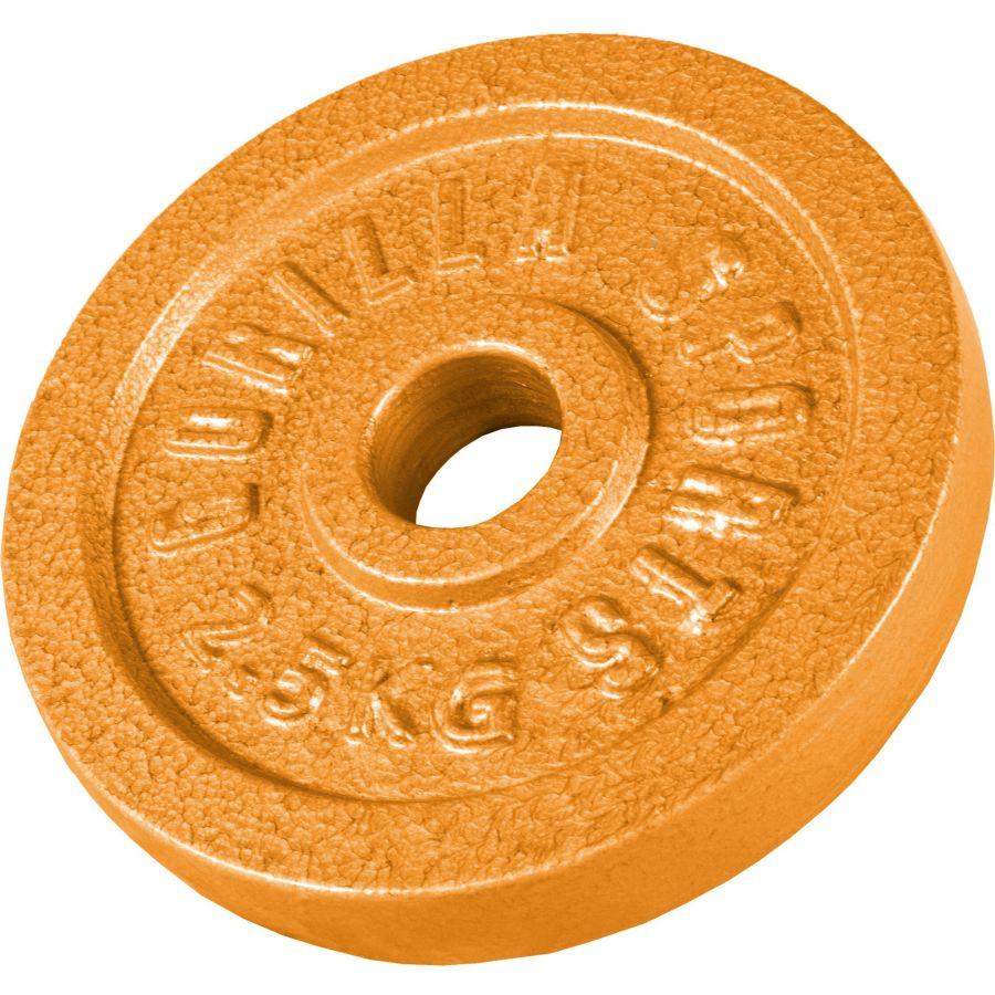 Halterschijf 2,5 kg Gietijzer Goud