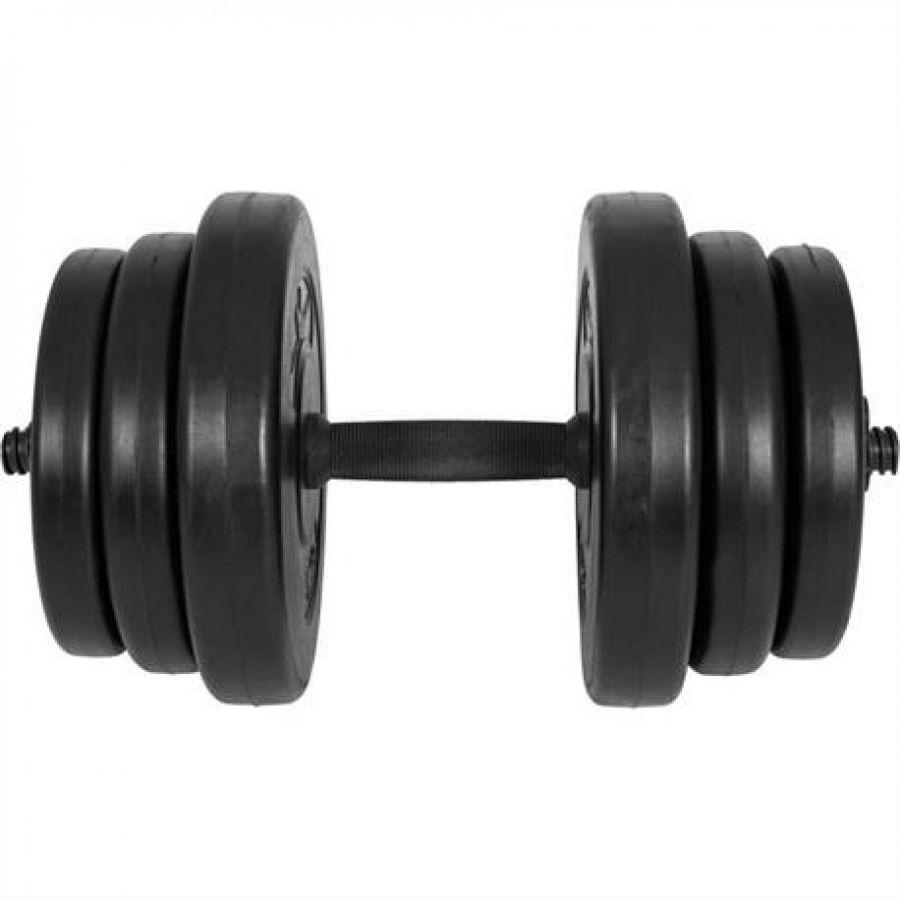 Dumbell 20 kg (25 mm, zwart)