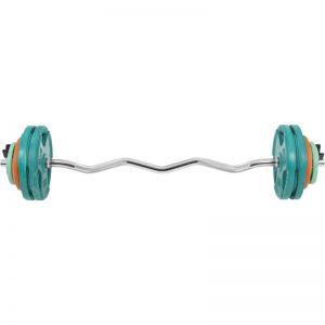 EZ Curlset 35 kg Gripper Gietijzer (Rubber Coating, Veersluiting)