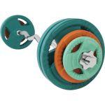 EZ Curlset 35 kg Gripper Gietijzer (Rubber Coating)-100673398