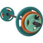 Aerobic Halterset 20 kg Gripper Gietijzer (Rubber Coating, Veersluiting) -100673583