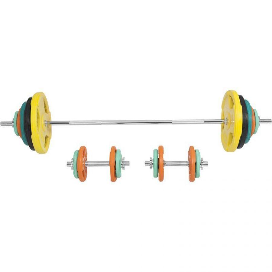 Halterset 100 kg Gripper Gietijzer (Rubber Coating)