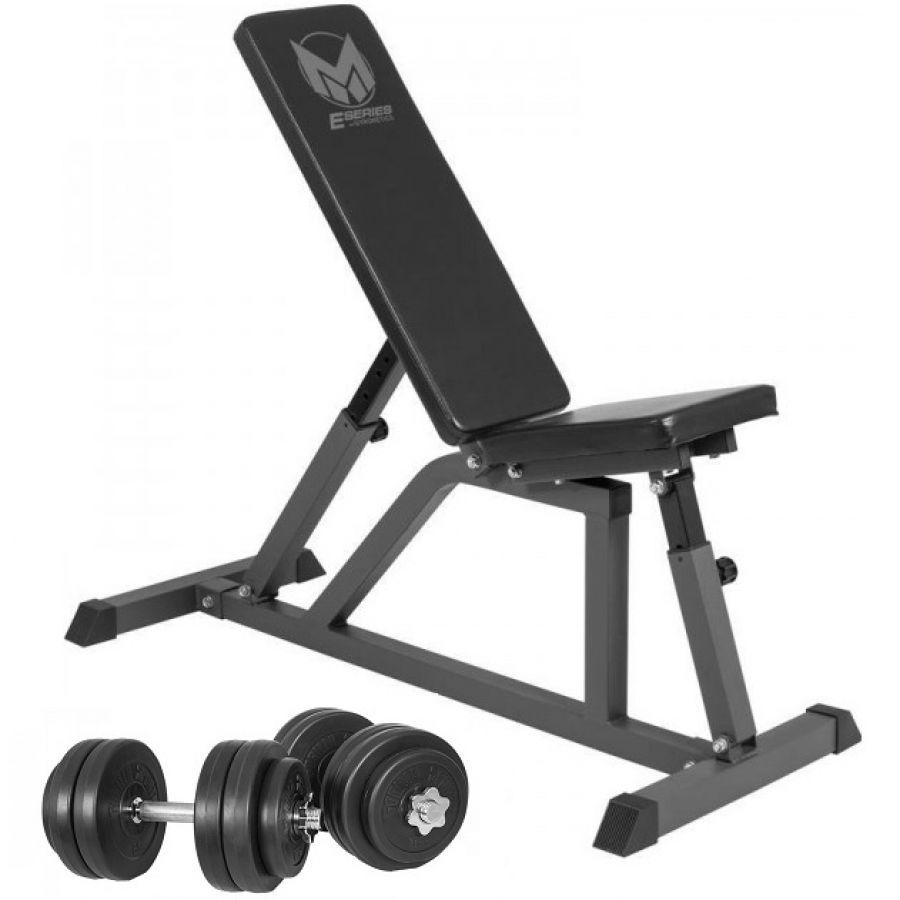 Gyronetics Fitnessbank Incl. 30 kg Dumbellset Kunststof