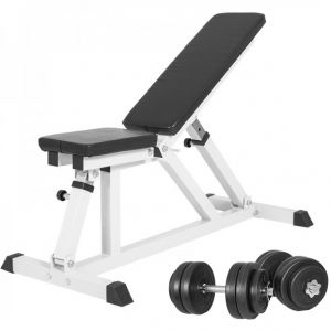 Multifunctionele Fitnessbank Incl. Dumbellset 30 kg Kunststof