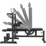 Universele Halterbank Zwart 108 kg Halterset Gietijzer (Veersluiting)-100675189