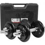 Dumbellset 20 kg Gietijzer incl. Koffer-100676620