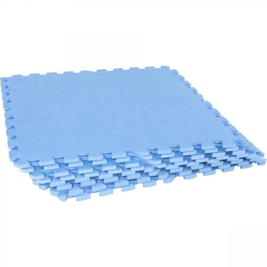 Sportschool Vloer Beschermingsmatten Blauw (8 stuks, totaal 2,55 m2)
