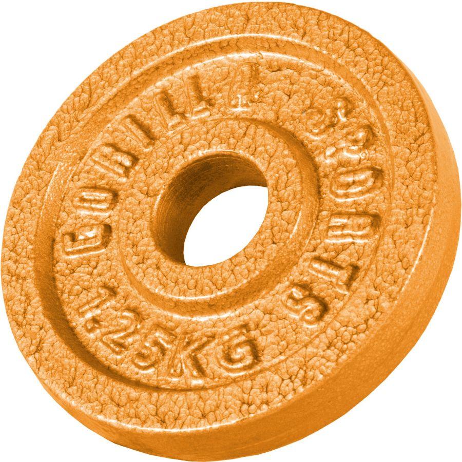 Halterschijf 1,25 kg Gietijzer Goud