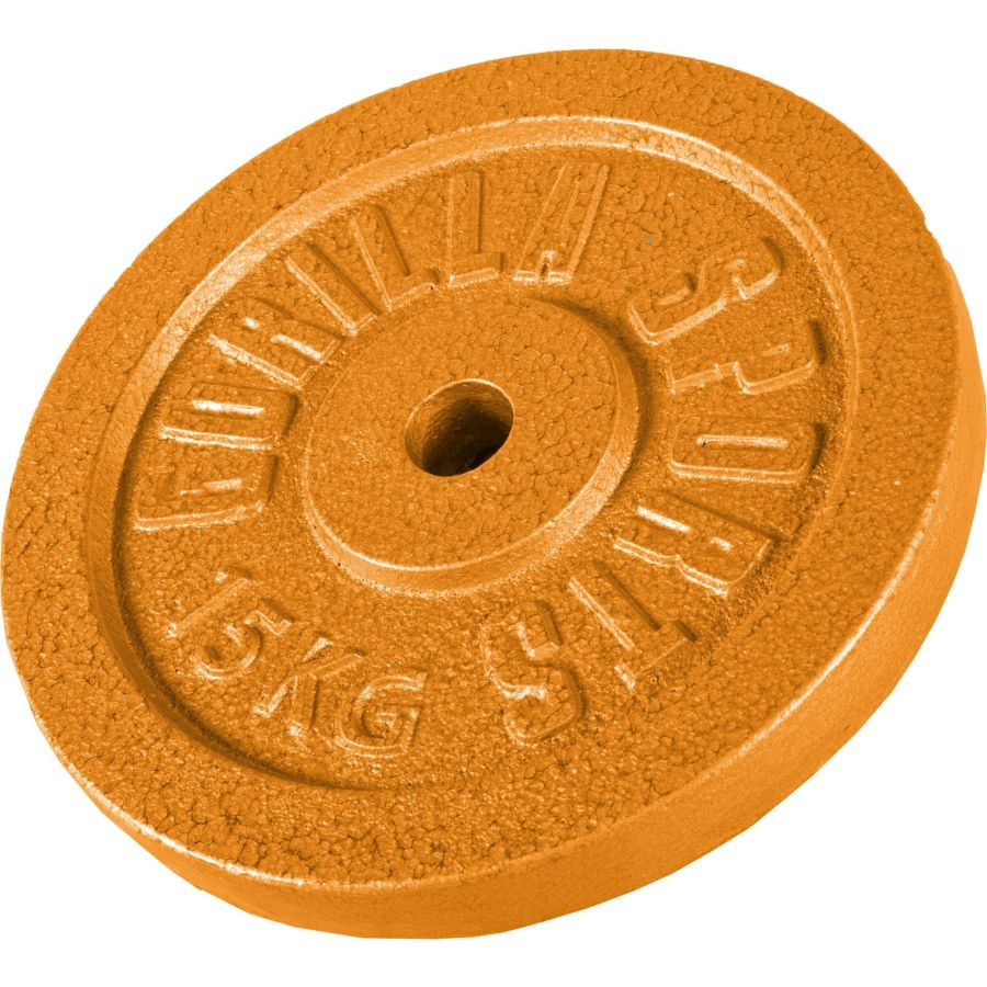 Halterschijf 15 kg Gietijzer Goud