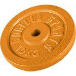 Halterschijf 10 kg Gietijzer Goud-100682728