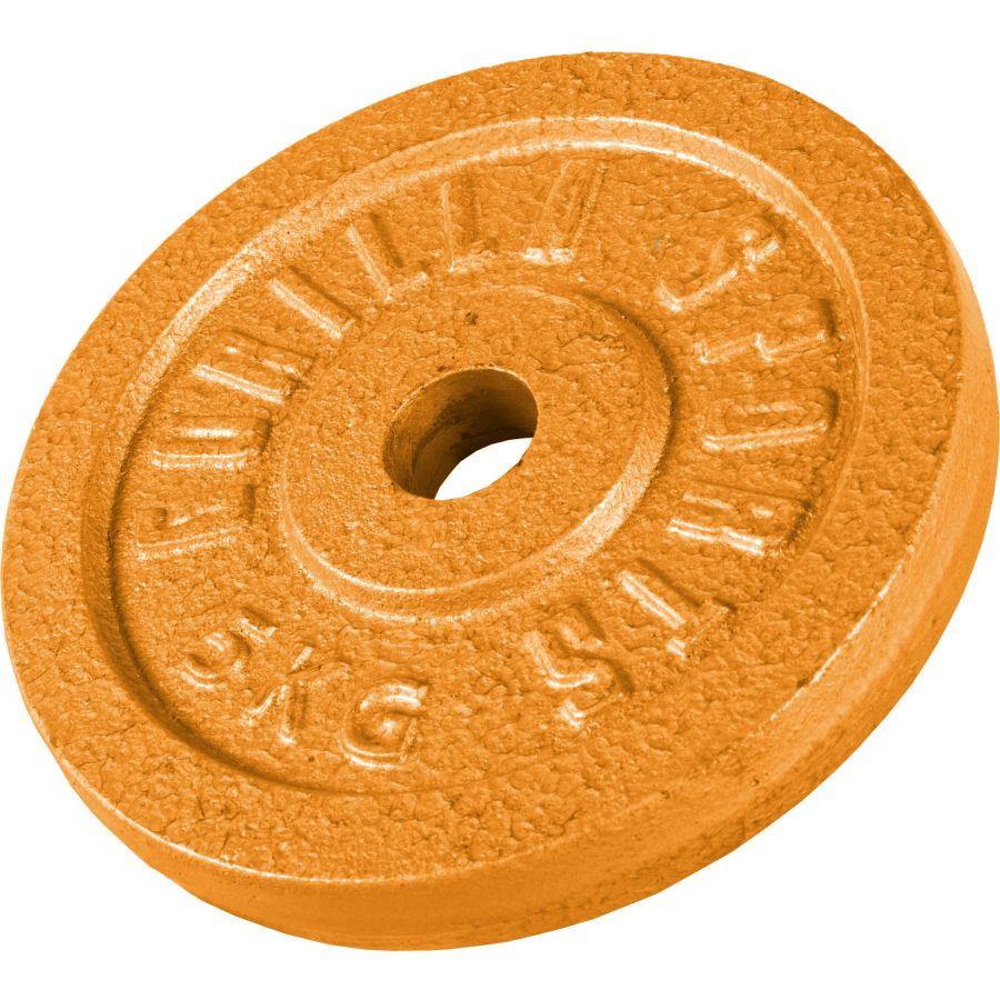 Halterschijf 5 kg Gietijzer Goud