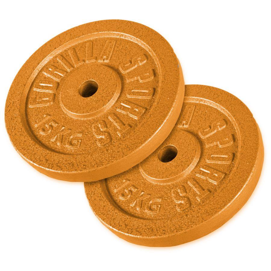 Voordeelbundel 30 kg (2 x 15 kg) Halterschijven Gietijzer Goud